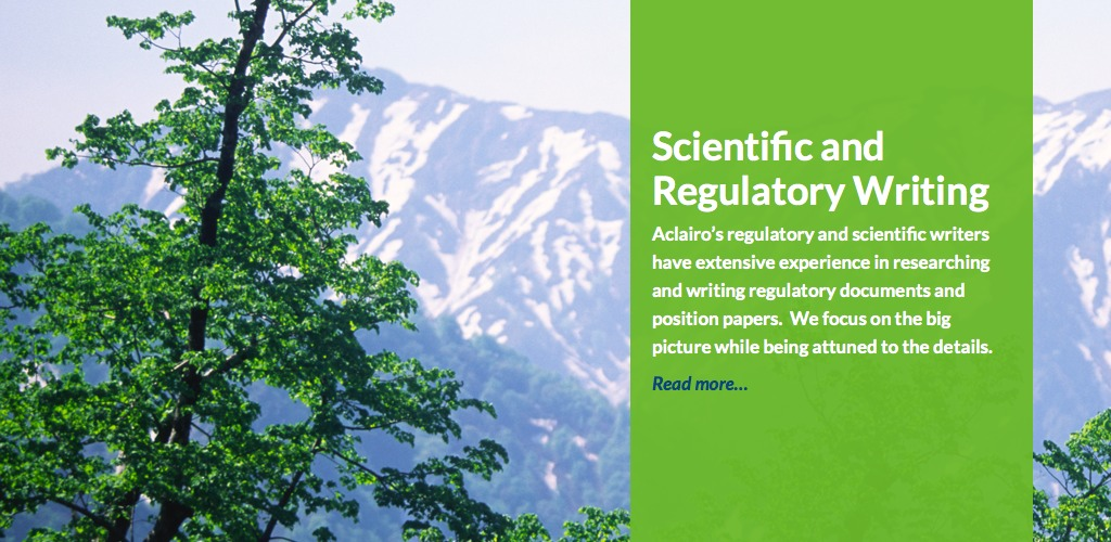 Scientific and Regulatory Writing
